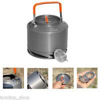 Outdoor Camping Picnic Cookware Drawstring Mesh Bag Kettle Tea Coffee Pot 1.5l