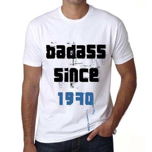 Badass Since 1970 Herren T-shirt Weiß Geburtstag Geschenk 00429