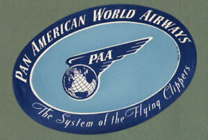 RARE-old-Airline-label-luggage-labels-Pan-Am-Airways-273