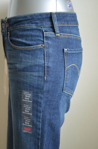 Levi/'s Mod Rise Bold Curve Bootcut Skinny Jeans Blue Drama NWT Sty 058060096