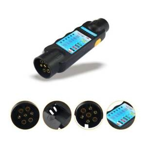 image is loading 12v-7-pin-car-truck-trailer-plug-socket-