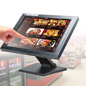 """15"""" Touch Screen USB LCD Monitor POS Stand Kiosk Restaurant Cafe Bar Retail <30W"""