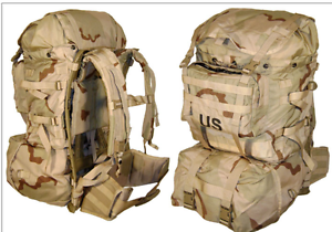 used new desert molle pack..military surplus..5 parts ..military surplus