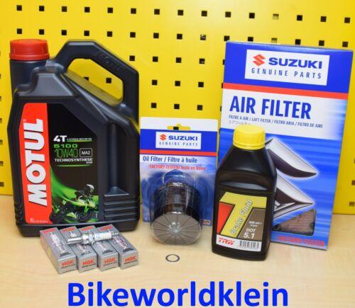 Suzuki gsx-r1000 l2-l6 servicekit bougies d/'allumage Original Filtre à huile Filtre à air huile