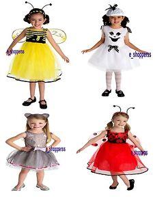 Image is loading Toddler-Girls-Costume-Lady-Bird-Bee-Cat-Ghost-  sc 1 st  eBay & Toddler Girls Costume Lady Bird/Bee/Cat/ Ghost/Spider Party Costume ...