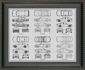 Blueprint-Art-BMW-3-Series-Auto-Collection-Car-Artwork-Gift-Poster-BBMW3