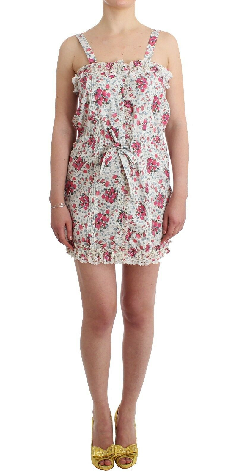 NEW  Ermanno Scervino Dress Mini Beachwear Rosa Floral Beach Short IT46 US12