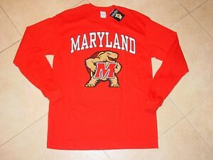 Details about UMD University MARYLAND TERPS TERRAPINS Long Sleeve T-Shirt  NEW sz    SMALL