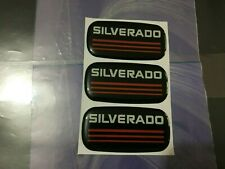 3pcs New Custom Epoxy Resin Silverado Emblem Pillar Cab Badge Red