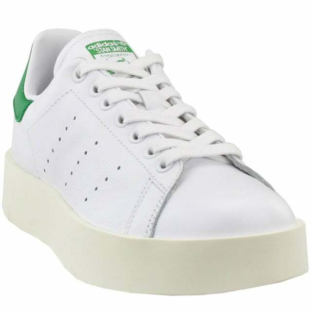 adidas Stan Smith Bold Sneakers Casual White Womens