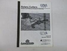 Land Pride Models Rcr3515 And Rcrm3515 Rotary Cutters Operators Manual