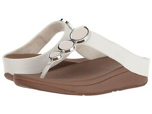 ce840b244 Image is loading FitFlop-Halo-Toe-Thong-Sandals-Urban-White-Leather-