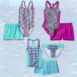 Girls-Swimsuit-amp-Shorts-Tankini-amp-Shorts-Sets-Joe-Boxer-4-16-14-5-18-5-UPF-50
