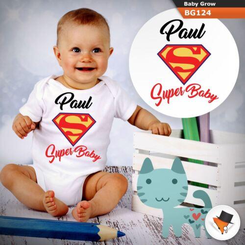 Personnalisé Super Baby Superman Marvel Babygrow Baby Grow Toutes tailles!