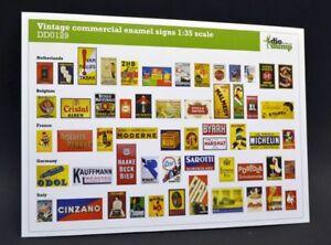 DioDump-DD129-Vintage-commercial-enamel-signs-1-35-scale-diorama-accessories