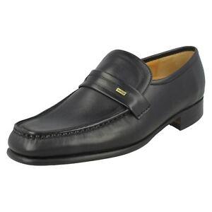 Mens Vitello Loafers nero Barker 'wesley' Black Y7wqYFHr