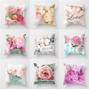 Art-Flower-Cushion-Cover-Waist-Home-Sofa-Bed-Car-Floral-Throw-Pillow-Case-Decor