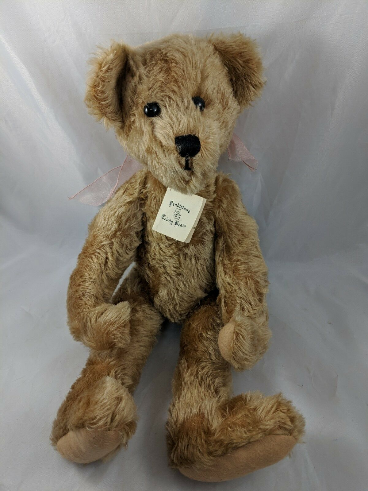Pendleton Teddy Bear Plush Terry Hayes 19  Camille Mohair Glass Eyes Jointed
