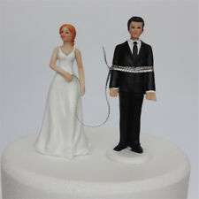 Creative Bounded Funny Wedding Cake Topper Bride And Groom Figurine Decor