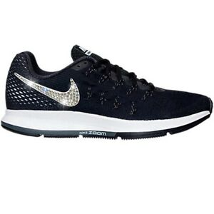 924f5debe2c30 Bling Nike Air Zoom Pegasus 33 Shoes w  Swarovski Crystal   Black ...