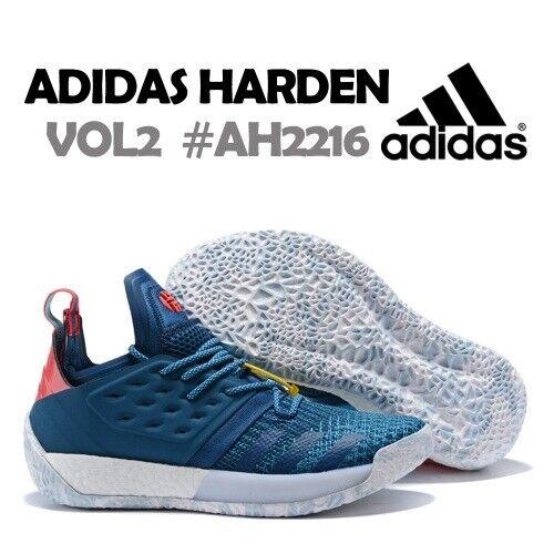 Adidas Harden Vol  2 blu Night AH2216 Cyan rosso PrimeKnit James Boost Men's 10  economico e di alta qualità