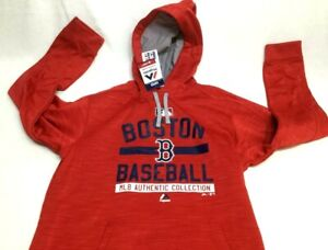 the latest 4e029 6ad5d Details about Boston Red Sox Majestic On Field Therma Base Hoodie Hooded  Sweatshirt Mens Large