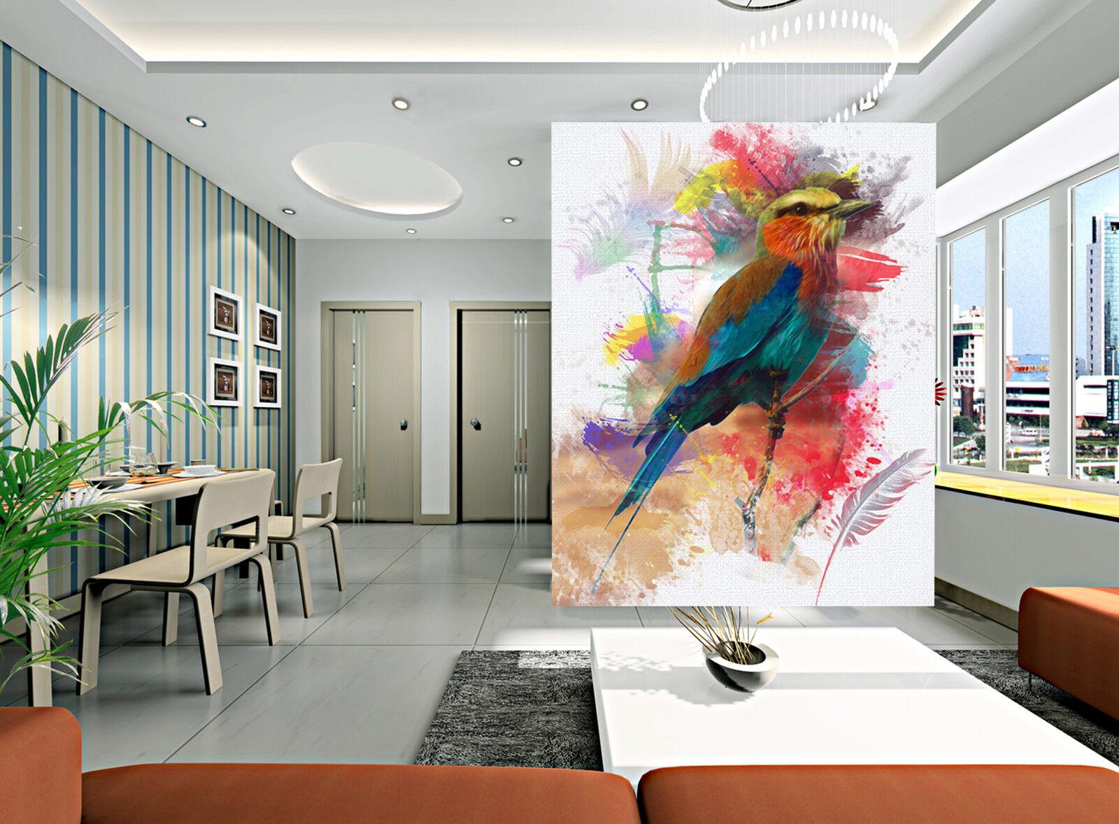 3D Painted Parrot Fototapeten Wandbild Fototapete Bild Tapete Familie Kinder