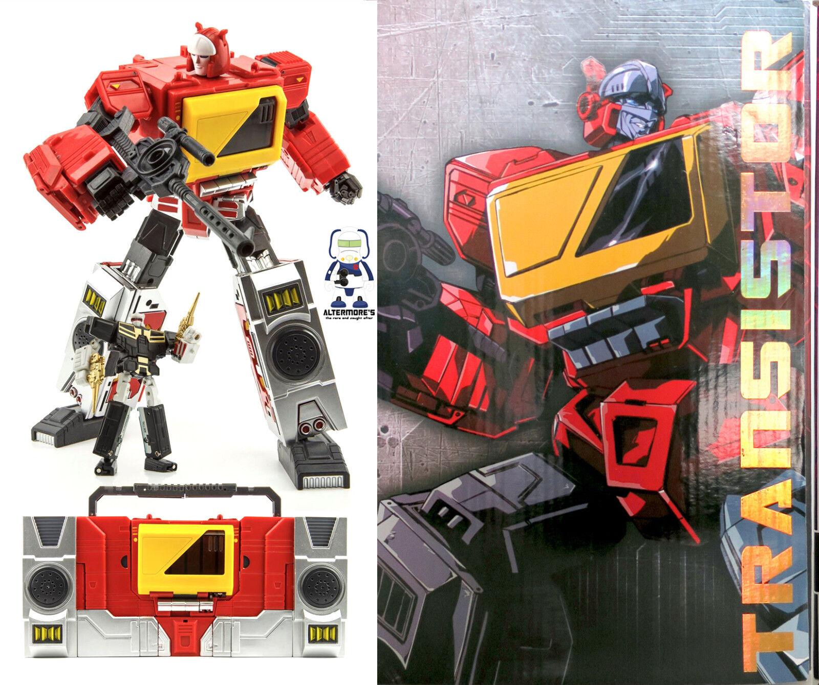 Transformers Masterpiece KFC GIOCATTOLI e.a.v.i. metallo 4A TRANSISTOR MP Blaster NUOVO IN SCATOLA SIGILLATA