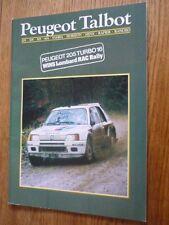 PEUGEOT TALBOT FULL RANGE SALES BROCHURE JANUARY 1985