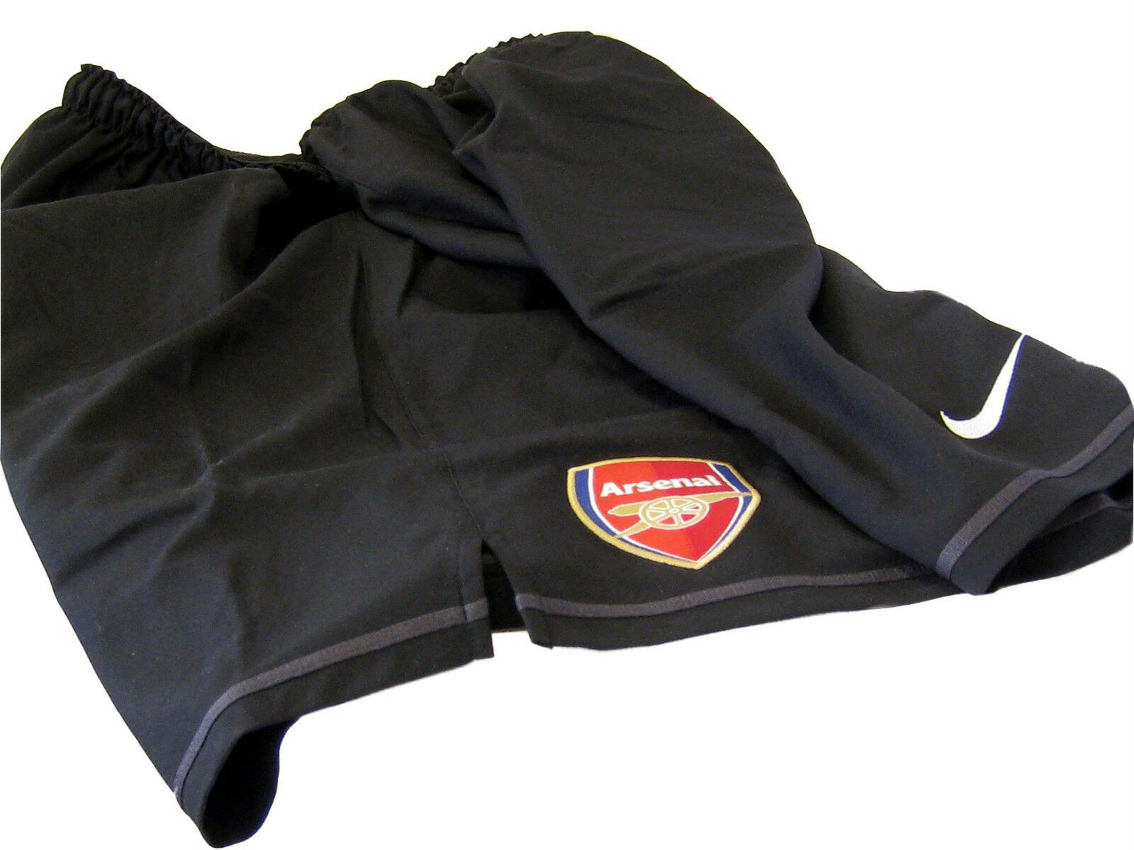 Nuovo Nike Arsenal Pantaloncini da Calcio Ufficiale Portiere Nero XXL
