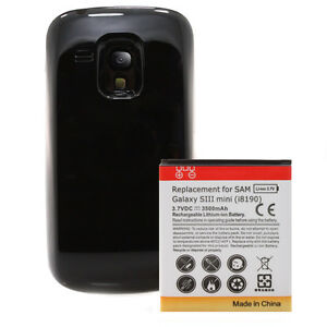 Samsung-Galaxy-S3-mini-i8190-Power-Akku-Batterie-3500mAh-Bumper-Cover-schwarz