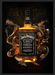 Jack Daniels Whiskey Honey Metal Sign Man Cave Pub Bar Beverage Pub Plaque Drink