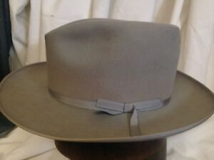 737db631 Image is loading Vintage-Royal-Stetson-Stratoliner-Gray-Fur-Felt-Fedora-