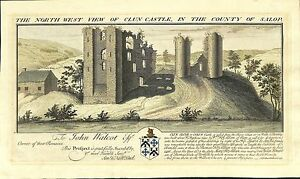 Antique-maps-The-north-west-view-of-Clun-Castle-S-amp-N-Buck-1731