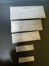 Vintage Starrett Adjustable Parallels Set Of 5 154a 154b 154d And 154e 154f