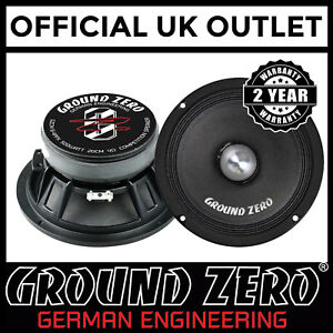 Ground-Zero-GZCM-8-4PPX-8-034-20cm-1000-Watts-Mid-Kick-Woofer-Car-Van-Speakers-Pair