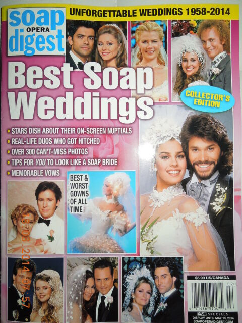 SOAP OPERA DIGEST special BEST SOAP WEDDINGS 1958-2014 COLLECTORS EDITION new