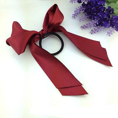 Fashion Women Lady Girl Scrunchie Satin Ribbon Bow Hair Band Rope Hairpin New