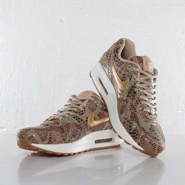 Nike AIR MAX 1 yots, UK Anno del Serpente QS, UK yots, taglia 5 Leopard, Safari, hometurf, b9a4ef
