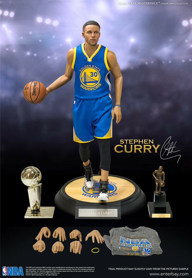 1/6 Scale Real Masterpiece NBA Collection - Stephen Curry Action Figure In Box