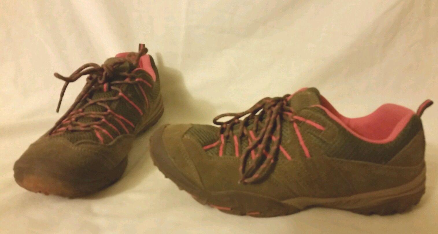 Nice  KHOMBU 8.5 M Sneakers Pinehurst Wmn Lace Up Walking shoes Brown Coral