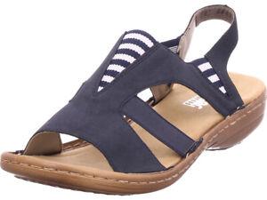 Rieker Damen Sandale Sandalette Sommerschuhe blau 68879 14