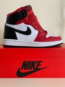 Nike Air Jordan 1 Retro Alta Og Satén Piel De Serpiente Chicago Para Mujer Talla 5 5 Con 4m Ebay