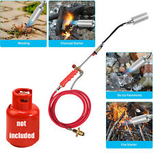 Push Button Igniter Propane Torch Wand Ice Snow Melter Weed Burner And 79in Hose