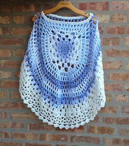 Details about Crochet Round Poncho Pattern Crochet Short Poncho #2 Printed  PDF Copy