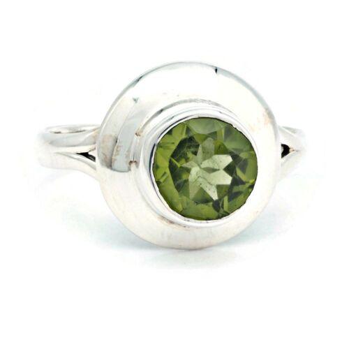MRI 190-59 Peridot Ring 925 Silber Sterlingsilber Damenring grün