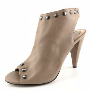d1568e2fb584e Details about Vince Camuto Abbia Taupe Leather Open Toe Mule Pumps Womens  Size 9.5 M *