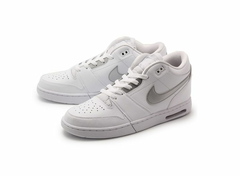 Nike Air Stepback Men's Basketball Shoes White/Metallic Silver 654476-102 White/Metallic Silver