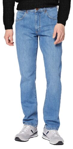 WRANGLER Homme Arizona Stretch Regular Fit Jeans Light Fuse bleu en jean délavé
