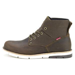LEVI'S NEW Men's Leather Boots Brown Jax BNIB - Brown